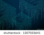 abstract texture with the... | Shutterstock .eps vector #1307033641