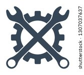 repair icon. gear and crossed...