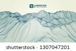 abstract wireframe background.... | Shutterstock .eps vector #1307047201