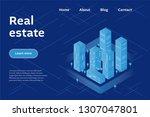 real estate company concept.... | Shutterstock .eps vector #1307047801