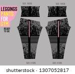 leggings pants for gym | Shutterstock .eps vector #1307052817