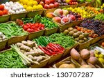 fruit market with various... | Shutterstock . vector #130707287