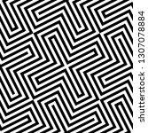 vector monochrome seamless... | Shutterstock .eps vector #1307078884