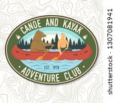 canoe and kayak club. vector.... | Shutterstock .eps vector #1307081941