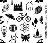 doodle environment seamless...   Shutterstock .eps vector #130709141