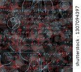 math seamless pattern endless... | Shutterstock .eps vector #1307094397