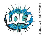 abbreviation lol  laugh out...   Shutterstock .eps vector #1307094814