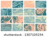 abstract ocean marble art.... | Shutterstock .eps vector #1307105254