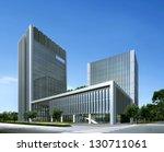 buildings made in 3d   Shutterstock . vector #130711061