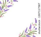 elegant card with lavender... | Shutterstock .eps vector #1307117587