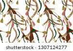 seamless belt chain tassel... | Shutterstock . vector #1307124277