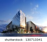 3d business buildings | Shutterstock . vector #130713341