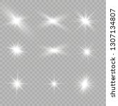 glow isolated white transparent ... | Shutterstock .eps vector #1307134807