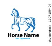 horse power logo designs | Shutterstock .eps vector #1307159404