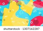 pop art color background.... | Shutterstock .eps vector #1307162287