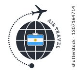 argentina air travel. vector... | Shutterstock .eps vector #1307164714