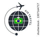 brazil air travel. vector...   Shutterstock .eps vector #1307164717