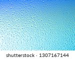 Water drops on blue background...