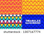 abstract geometric triangles... | Shutterstock .eps vector #1307167774