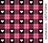 valentine day tartan plaid.... | Shutterstock .eps vector #1307172844