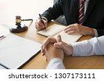 justice consultant working in... | Shutterstock . vector #1307173111