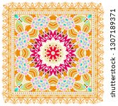 decorative colorful ornament on ... | Shutterstock .eps vector #1307189371