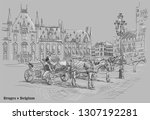view on grote markt square with ...   Shutterstock .eps vector #1307192281
