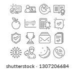 set of confirmed  column... | Shutterstock .eps vector #1307206684