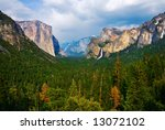 yosemite valley with cloudy sky | Shutterstock . vector #13072102