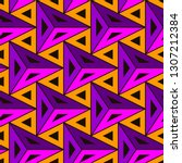 contemporary geometric pattern. ... | Shutterstock .eps vector #1307212384