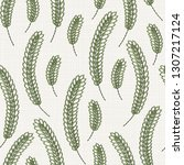 embroidery floral seamless... | Shutterstock . vector #1307217124