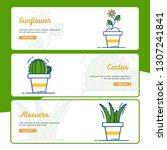 gardening banner collection... | Shutterstock .eps vector #1307241841