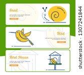 gardening banner collection... | Shutterstock .eps vector #1307241844