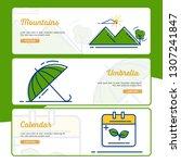 gardening banner collection... | Shutterstock .eps vector #1307241847