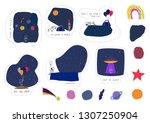 universe space astronaut nature ... | Shutterstock .eps vector #1307250904