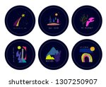 universe space nature star... | Shutterstock .eps vector #1307250907