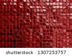 red wall or paper texture... | Shutterstock . vector #1307253757