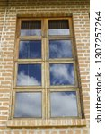 beautiful window with blue sky... | Shutterstock . vector #1307257264