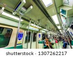 singapore  may 15 2018   mass... | Shutterstock . vector #1307262217