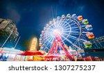 City ferris wheel night view