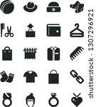 solid black vector icon set  ... | Shutterstock .eps vector #1307296921