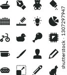 solid black vector icon set  ... | Shutterstock .eps vector #1307297947
