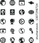 solid black vector icon set  ... | Shutterstock .eps vector #1307298724
