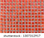 red mosaic tiles  | Shutterstock . vector #1307312917