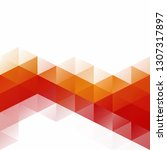 orange grid mosaic background ...   Shutterstock .eps vector #1307317897
