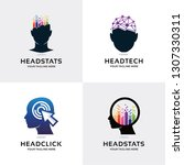 people head logo set design... | Shutterstock .eps vector #1307330311