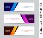 corporate banner collection...   Shutterstock .eps vector #1307334184