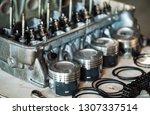 disassembled car engine.... | Shutterstock . vector #1307337514