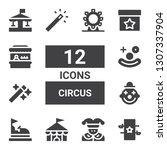 circus icon set. collection of... | Shutterstock .eps vector #1307337904