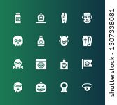 scary icon set. collection of... | Shutterstock .eps vector #1307338081